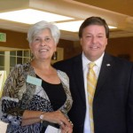 Sandra Sumner (Seaside Gardeners President) and Mayor Thomas Koch at 60th Anniversary Luncheon
