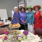 Sandra Sumner, Marsha Cannon, Carol Costello, Deni Sindel at Tea Party