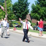 Mayor Tom Koch at Squantum Parade