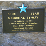 Blue Star Memorial Marker