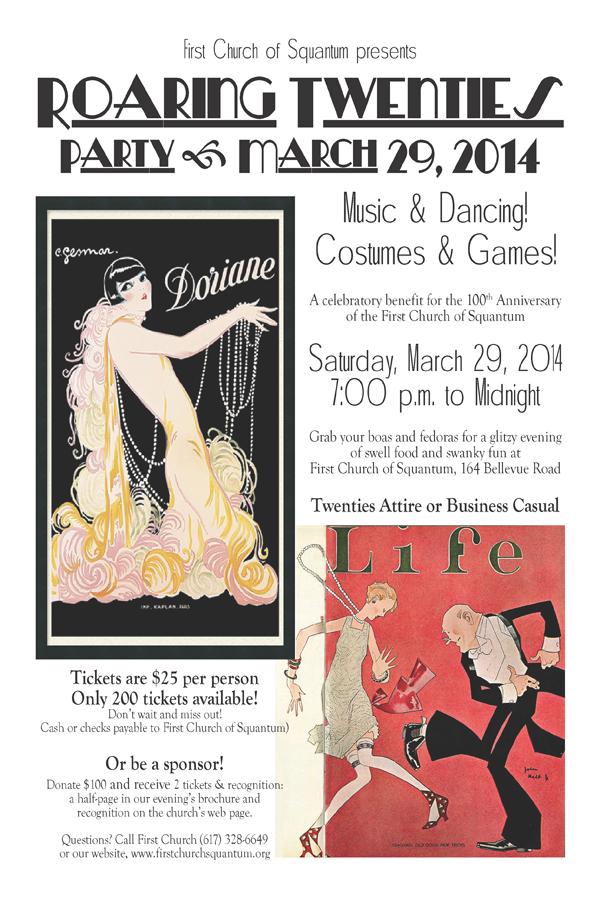 Roaring Twenties event flyer