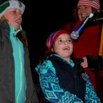 Singing carols at Squantum Tree Lighting 2015
