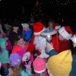 Santa and kids Squantum Tree Lighting 2015