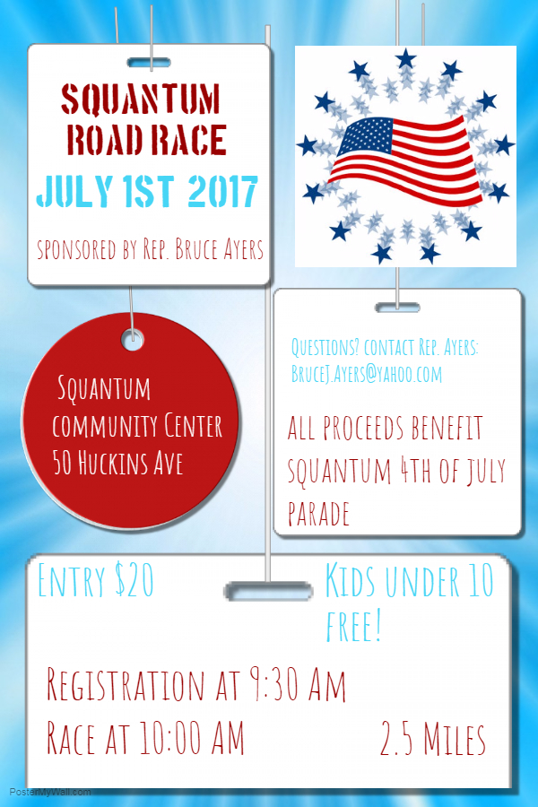 July 1 Road Race flyer