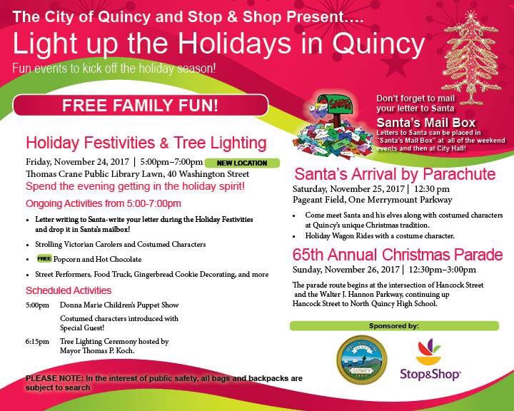 Quincy Holiday Flyer 2017